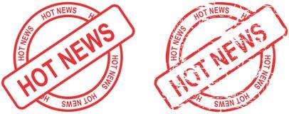 红色邮票最新新闻文本圈子设置了以格式 库存照片