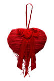 红色重点 背景蓝色框概念概念性日礼品重点查出珠宝信函生活纤管红色仍然被塑造的华伦泰 库存图片
