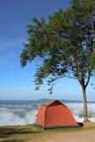 红色野营的帐篷 库存照片