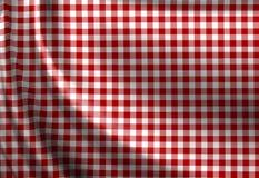 红色野餐布料纹理 免版税图库摄影