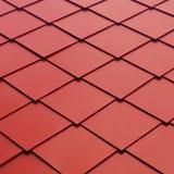 红色金属瓦片样式 库存图片