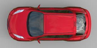 红色金属超小型天桥SUV 3d翻译 皇族释放例证