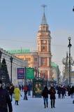 红色钟楼 免版税库存照片