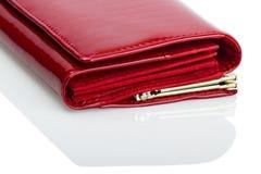 红色钱包 免版税库存图片