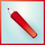 红色铅笔 图库摄影