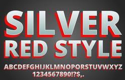 红色银色字体 免版税库存图片