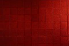红色铺磁砖的墙壁 免版税库存图片