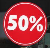 红色销售标志百分之五十 图库摄影