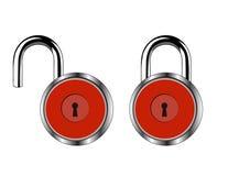 红色锁 库存照片