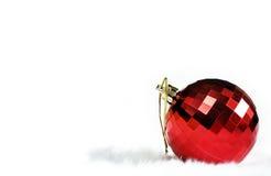 红色镜子球 库存图片
