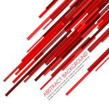 红色长方形禁止倾斜地传染媒介抽象背景 免版税图库摄影
