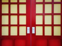 红色门背景与白色瘤的 免版税库存照片