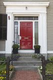 红色门,家 库存照片