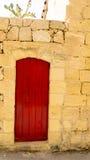 红色门gharb 库存图片