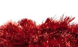 红色闪亮金属片 库存照片