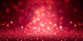 红色闪烁横幅 免版税库存照片