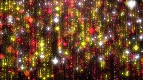 红色闪烁雨HD 库存例证