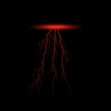 红色闪电传染媒介 图库摄影