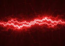 红色闪电 库存图片