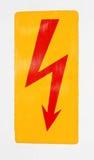 红色闪电 免版税库存图片