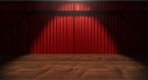 红色阶段窗帘 免版税库存图片