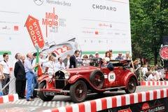 红色阿尔法・罗密欧6C 1750 GT 免版税图库摄影