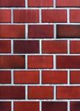 红色陶瓷砖墙壁 库存照片