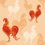 红色雄鸡样式 免版税库存照片