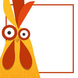 红色雄鸡, 2017年的标志 免版税库存照片
