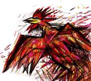 红色雄鸡(传染媒介格式) 免版税库存照片