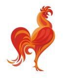 红色雄鸡 库存照片