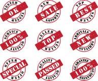 红色集合印花税 库存图片