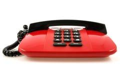 红色集合电话 图库摄影