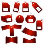 红色集合贴纸 图库摄影