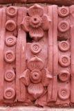 红色雕塑 库存图片