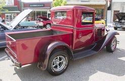 1933红色雪佛兰卡车 免版税库存图片