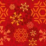 红色雪花样式 免版税库存照片