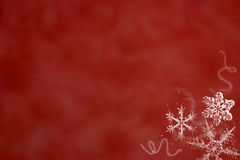 红色雪 免版税库存图片