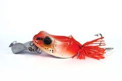 红色青蛙诱饵 免版税图库摄影