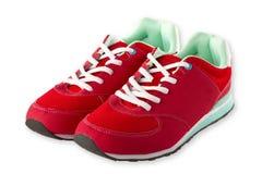 红色鞋子体育运动 免版税图库摄影