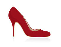 红色鞋子妇女 库存例证