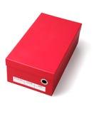 红色鞋盒 免版税库存图片
