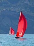 红色风帆 免版税库存照片