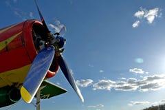 红色飞机 免版税库存照片