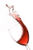 红色飞溅酒 免版税图库摄影