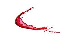 红色飞溅酒 免版税库存照片