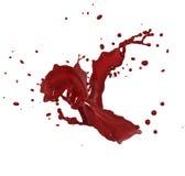 红色飞溅 免版税库存照片