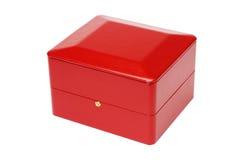 红色首饰盒 免版税库存图片