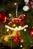 红色马圣诞节装饰 免版税库存图片