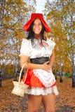 红色骑马兜帽 库存照片